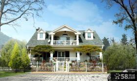 乡村欧式二层别墅外观图
