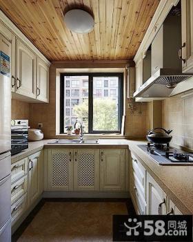 欧式厨房桑拿板吊顶效果图