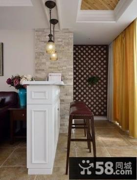 美式复式室内吧台设计效果图片图片
