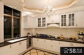 欧式简约厨房集成吊顶效果图