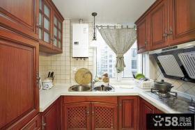 美式乡村风格农村厨房设计效果图