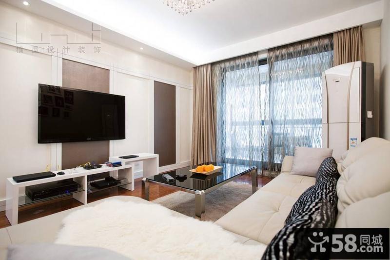 现代客厅电视机背景墙家庭装修设计图
