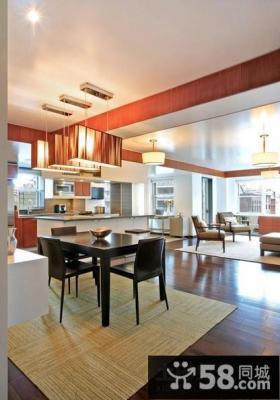 两室两厅客厅餐厅一体装修设计