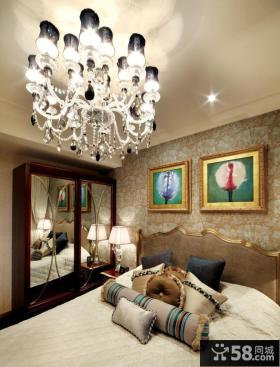欧式新古典风格卧室水晶灯图片大全