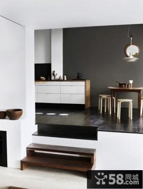 复式楼厨房橱柜装修效果图大全2014图片