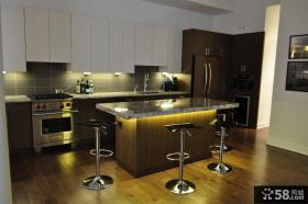 美式田园风格家居厨房整体橱柜效果图
