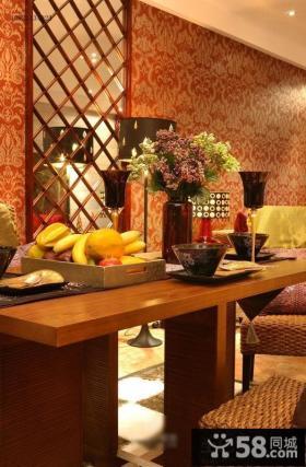 高档装修别墅家用餐桌装饰图片