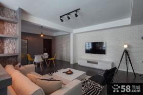 现代风格时尚客厅电视背景墙图片大全
