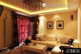 现代小户型客厅吊顶效果图