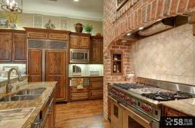美式乡村风格厨房灶台设计