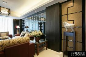 新中式风格客厅沙发背景墙图片