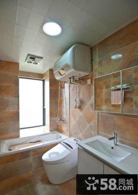 简欧美式瓷砖卫生间效果图