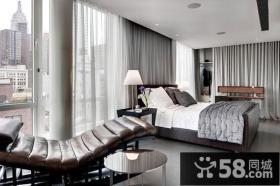 两室两厅时尚卧室飘窗装修效果图大全2012图片