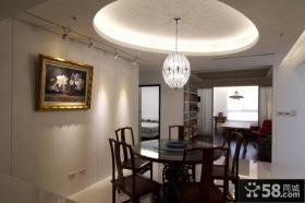 美式现代风格餐厅室内效果图片
