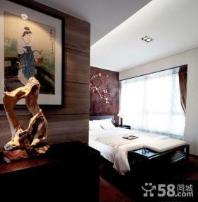 古典新中式卧室装饰布置