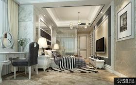 欧式风格主卧室吊顶装修效果图片大全