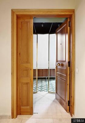 中式木门玄关设计