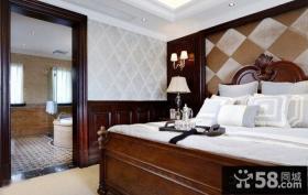 新古典风格卧室实木家具床摆放