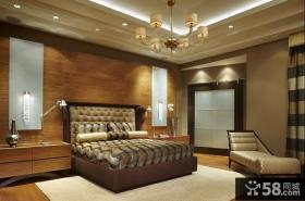 三居室美式古典风格卧室吊顶装修效果图