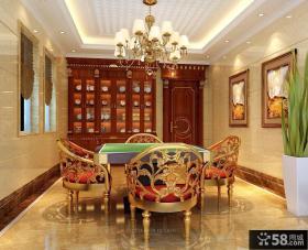 美式风格豪华别墅餐厅装修效果图