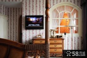 卧室壁纸电视背景墙装修效果图片