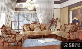 卧室美式家具床图片
