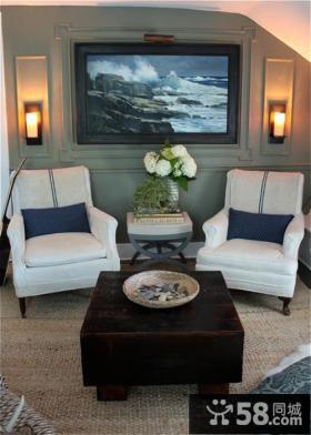 60平小户型客厅装修效果图大全2013图片