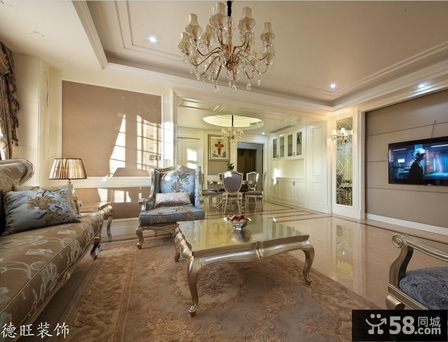欧式风格客厅沙发茶几图片欣赏