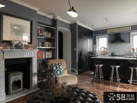 美式家庭设计室内样板间效果图