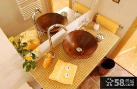 卫生间整体洗手盆图片大全