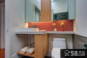 120平方复式楼厕所装修效果图大全2012图片