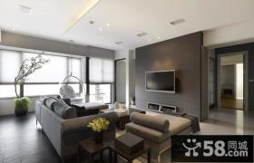 简约客厅电视背景墙装修效果图设计