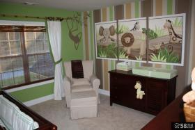 美式儿童房室内墙画图片大全