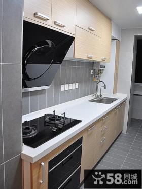 现代风格厨房橱柜颜色效果图片