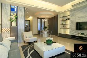 现代简约复式楼室内装修效果图大全