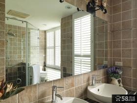 田园风格别墅洗手间装修效果图