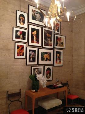 家居玄关装修现代装饰画图片