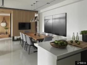 后现代风格餐厅电视背景墙设计图