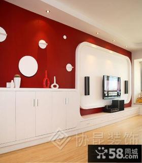 现代客厅电视背景墙装修效果图大全2013图欣赏