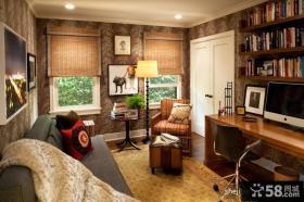 美式家居书房装修效果图大全2012图片