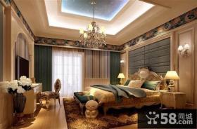 欧式风格主卧室吊顶装修效果图
