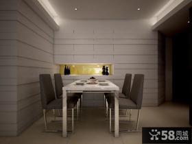 现代简约风格餐厅效果图片