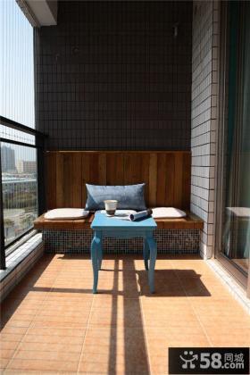 地中海风格阳台装修效果图片