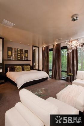欧式客厅沙发背景墙装修效果图2012图片