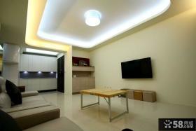 最简单装修客厅电视背景墙效果图