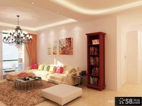 90平米两室两厅客厅装修效果图 2012客厅吊顶效果图