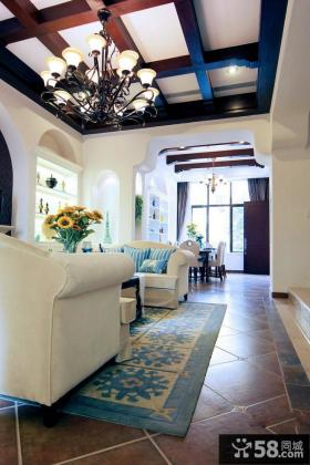 地中海风格别墅样板房效果图