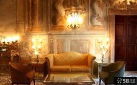 欧式客厅蜡烛灯图片