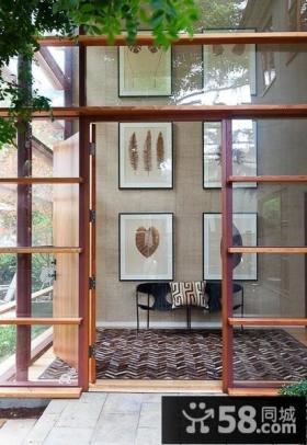 别墅玄关玻璃门效果图片