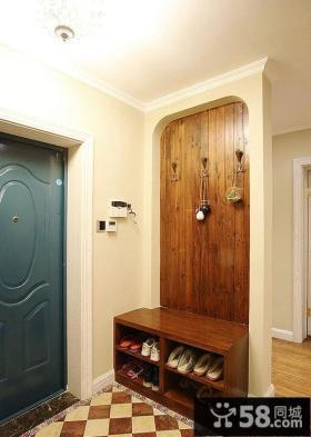 美式风格室内玄关装饰效果图片